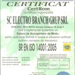 ISO 14001 Electro Branch Grup