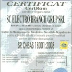 ISO 18001 Electro Branch Grup