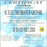 ISO 9001 Electro Branch Grup